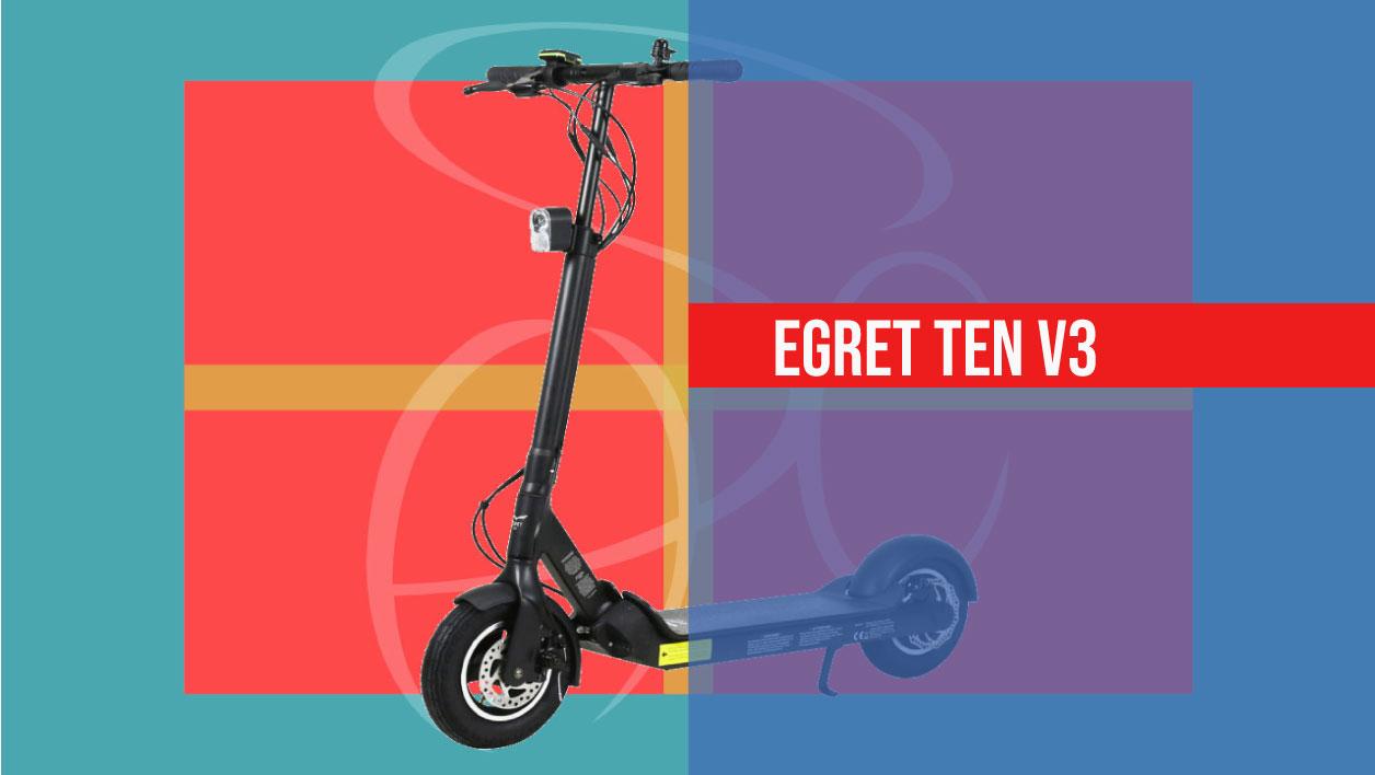 photo de l'egret ten v3, la trottinette électrique puissante